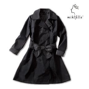 写真:【販売終了】mikifille 白川みきのはっ水加工スプリングコート