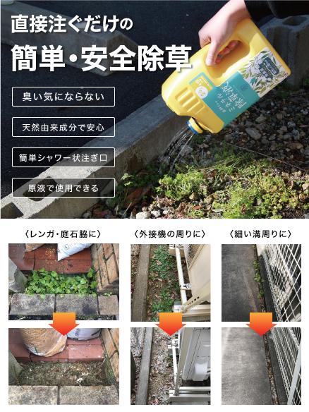 写真:庭師さんのミネラル除草液