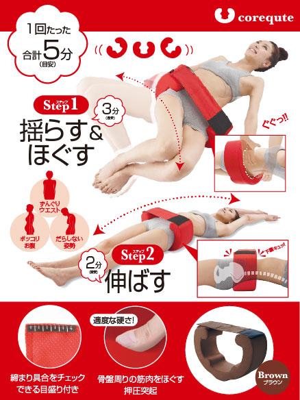 写真:【販売終了】福辻式寝ながら骨盤コアキュット